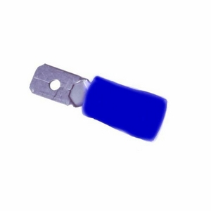 BLUE TAB TERMINAL 6.3MM - PART INSULATED