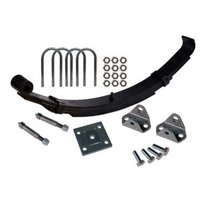 SINGLE AXLE SLIPPER END LEAF SPRING SET TO SUIT GROUNDHOG WELFARE CABIN