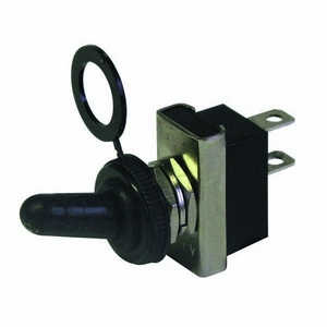 ON-OFF HEAVY DUTY DOUBLE POLE METAL SWITCH C/W WATERPROOF COVER 25AMPS AT 12V DC (13MM PANEL HOLE)