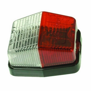 RED/WHITE MARKER LAMP - BULB NOT INCLUDED