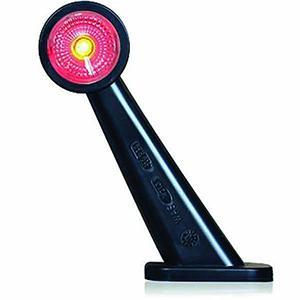 R/H 10-30V RUBBER LED RED/WHITE MARKER LAMP