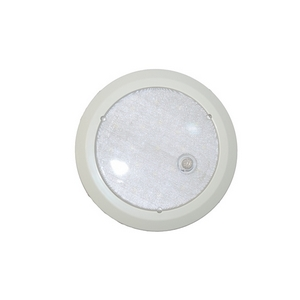 12/24V LED INTERIOR ROUND LAMP C/W BUILT IN PIR SENSOR (IP67 RATED)