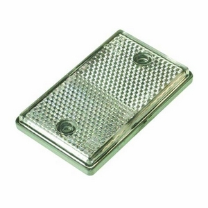 OBLONG SELF ADHESIVE CLEAR REFLECTOR