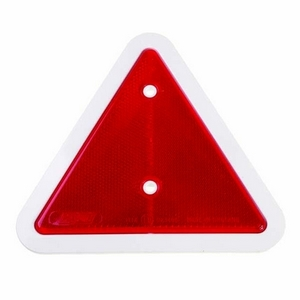REAR REFLECTIVE TRIANGLE WITH WHITE SURROUND