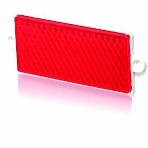 LARGE OBLONG RED REFLECTOR