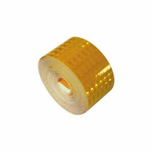 75MM YELLOW ECE70 REFLECTIVE TAPE - ROLL OF 12.5M