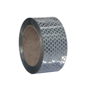 50MM CLEAR / SILVER REFLECTIVE TAPE - ROLL OF 11.4M