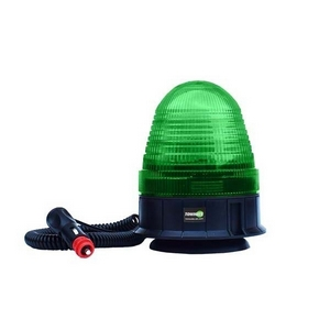 12/24V MAGNETIC/3 BOLT LED BEACON C/W GREEN LENS