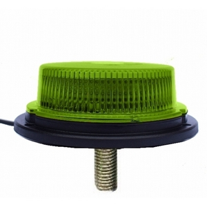 12/24V LED SINGLE BOLT (M10) LOW PROFILE  BEACON C/W GREEN LENS