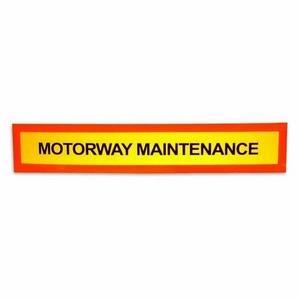 SINGLE MARKER BOARD (MOTORWAY MAINTENANCE)
