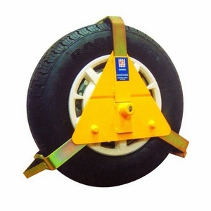 "8"" - 10"" STRONGHOLD WHEEL CLAMP - INSURANCE APPROVED (FITS TYRE SIZES 90-175MM)"