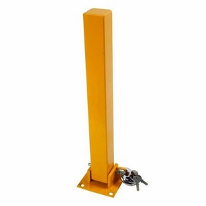 FOLD DOWN SECURITY POST (BOLT DOWN TYPE) C/W PADLOCK