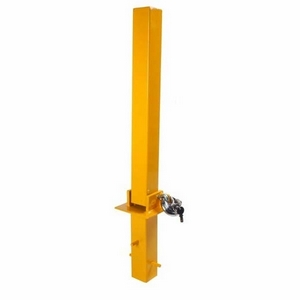 FOLD DOWN SECURITY POST (CONCRETE IN TYPE) C/W PADLOCK
