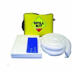 50LTR OIL ONLY SPILL KIT C/W DRAIN PROTECTION MAT IN YELLOW SHOULDER CARRY BAG