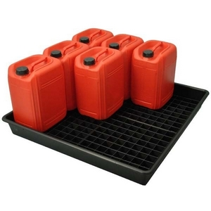SPILL TRAY - 9 DRUM UNIT C/W CONTAINER GRID - 1010 X 1000 X 120MM