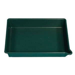 DEEP DRIP PAN WITH MOULDED-IN POURING LIP - 16 LITRE CAPACITY - 530 X 400 X 95MM