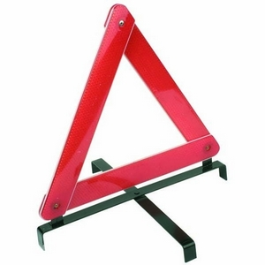 'E' APPROVED WARNING TRIANGLE