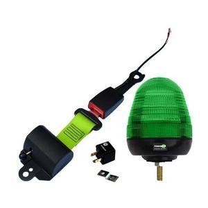 SEAT BELT INDICATOR - SINGLE BOLT LED BEACON C/W RELAY