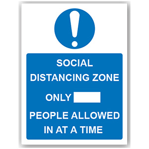 PVC SIGN - 'SOCIAL DISTANCING ZONE