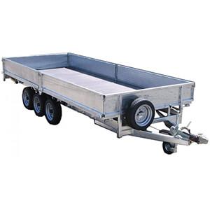 3500kg Tri-Axle Flat Bed Trailer