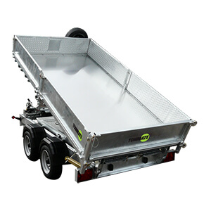 3500kg Twin Axle Tipper Trailer with Spare Wheel