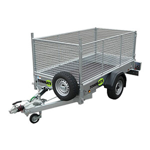 750kg Unbraked Car Trailer with Mesh Sides and Ramp